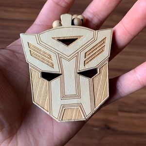 Wood Transformer Necklace